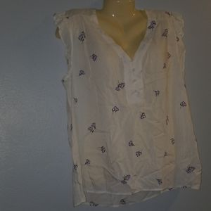 Old Navy XL White Flutter Sleeve Top